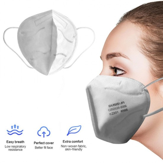 100 pieces x Medical Reusable Face Masks 5 layer protection CE FDA Approved Safety Masks Features as N95 FFP2 - BeSafe