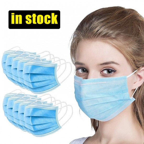 1000 pieces x 3-Layer Washable Face Mask Breathable Anti Haze Safety Mouth Medical Mask lot UK